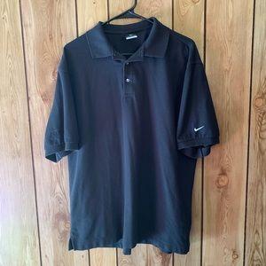 Nike FitDry men's large black polo shirt